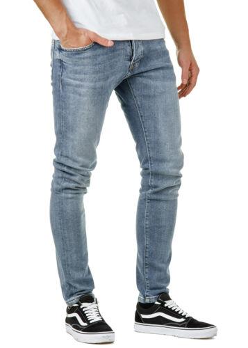 Eightyfive efj3655 Uomo Jeans Pantaloni Biker Denim Slim Fit Blu w29-36