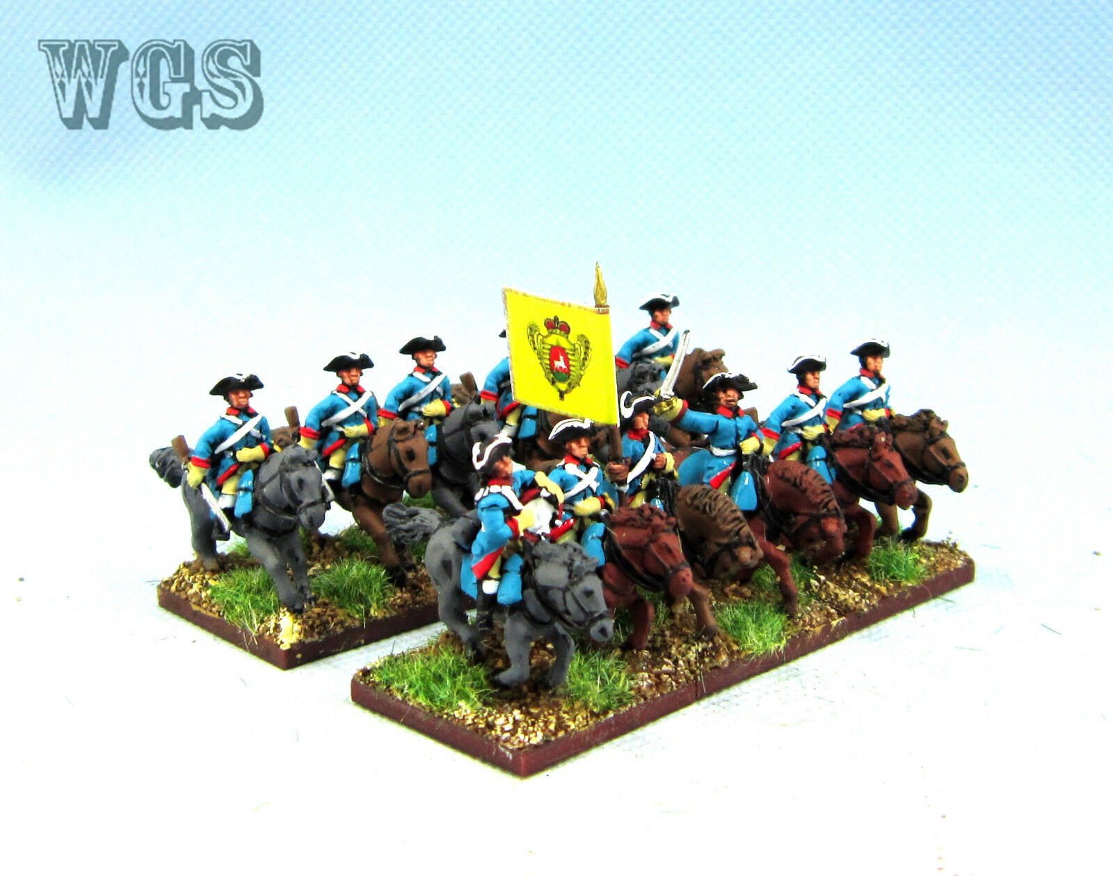 15MM WGS Seven Years War SYW Painted Russia Dragoons RB7