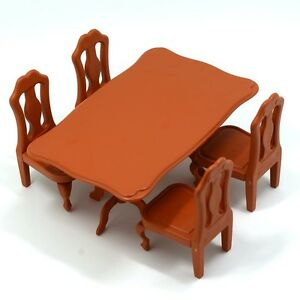 Mini dining table and 4 chairs miniture furniture playset for Mini dining table and chairs
