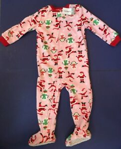bf2bb5c964a6 COZY SUPER SOFT TODDLER GIRL CHRISTMAS FOOTED PJ S PAJAMAS SLEEPER ...