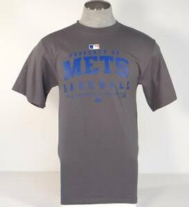 Majestic-New-York-Mets-Short-Sleeve-Gray-Tee-T-Shirt-Mens-Small-S-NWT