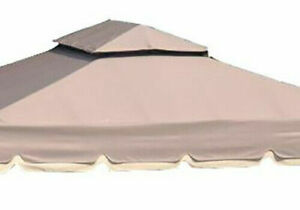 TAUPE 10X12 Replacement Roof Canopy for Gazebo