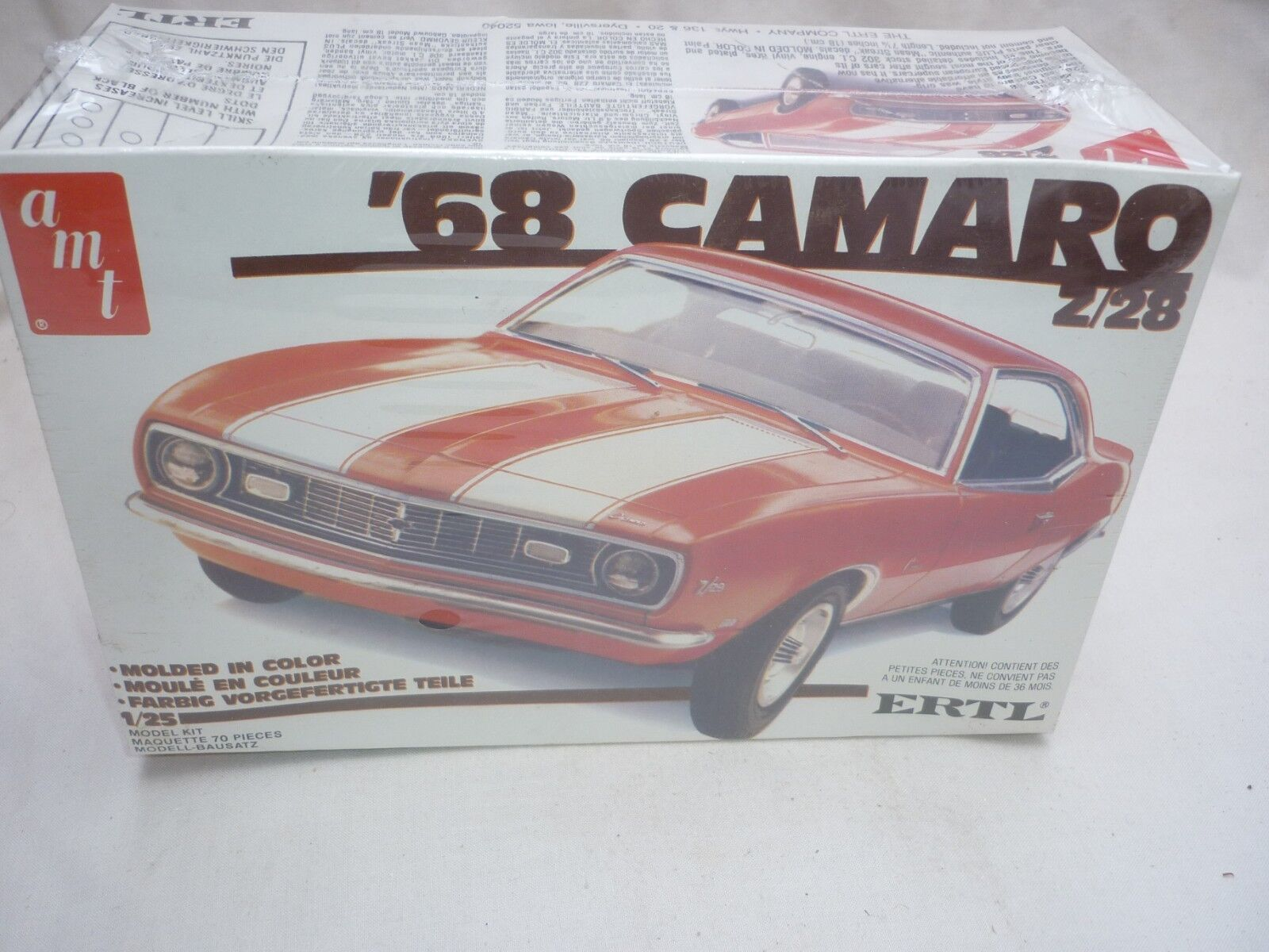 AMT   Ertl un opened plastic kit of a 1968 Chevrolet Camaro Z-28, factory sealed