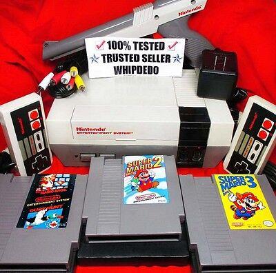 NES/Nintendo System Original Console w/ Super Mario 1-3! 100% TESTED! COMPLETE!