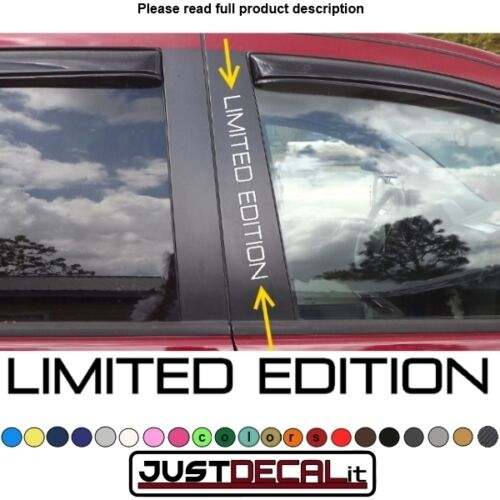 Window Pillar Decal LIMITED EDITION text sticker emblem logo graphic