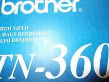 brand new (2) pack Genuine Brother TN360 tn 360 Cartridges oem open box