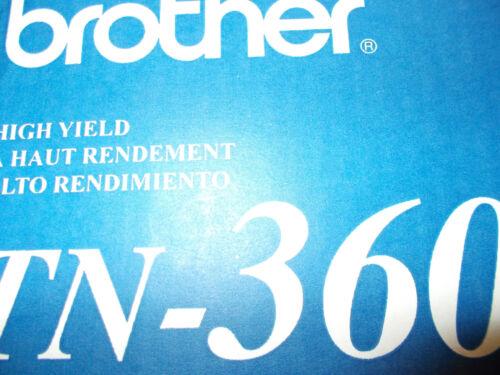 brand new 2 pack Genuine Brother TN360 tn 360 Cartridges oem open box