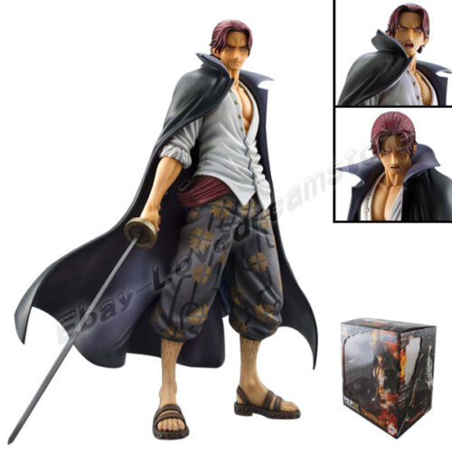"One Piece P.O.P DX RedHaired Pirates Shanks 24cm9.5"" PVC Figure New In Box"
