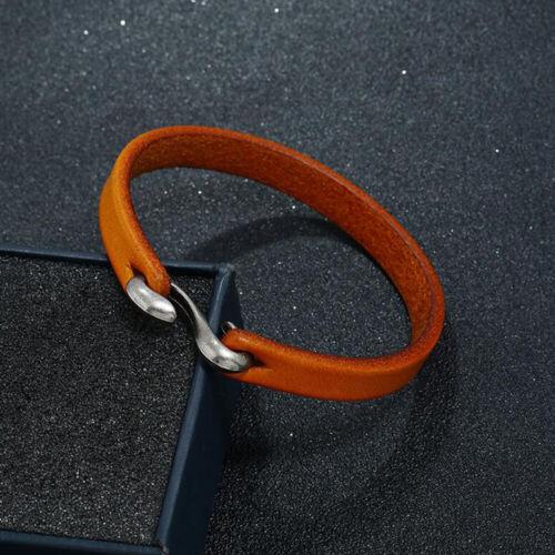 Men Unisex/'s Punk Simple Leather Bracelet Surfer Cuff Wrap Bangle Jewelry Gifts