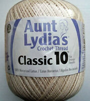 Aunt Lydia's Classic Crochet Thread Size 10 Natural Value Size 1000 Yards