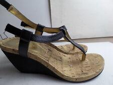 3f68280a871 Chaps Women s Raevyn Slip-on Wedge Thong Sandals Aqua Blue 9 for ...
