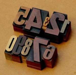 Amical 0-9 Chiffres Mix Affiche Lettres Letterpress Lettres Chiffres Tampon Nombre Chiffre Alt-afficher Le Titre D'origine DernièRe Technologie