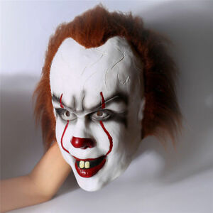 4183bdbee5fc Caricamento dell immagine in corso IT-Pennywise-Clown-Deluxe-Maschera- Halloween-Stephen-King-