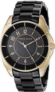 Anne Klein Watch * 1978BKGB Black Gold 2 Tone Steel & Ceramic COD PayPal