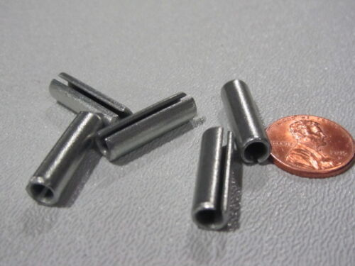 """Zinc Plate Steel Slotted Roll Spring Pin 100 pcs 1//4/"""" Dia x 7//8/"""" Length"""