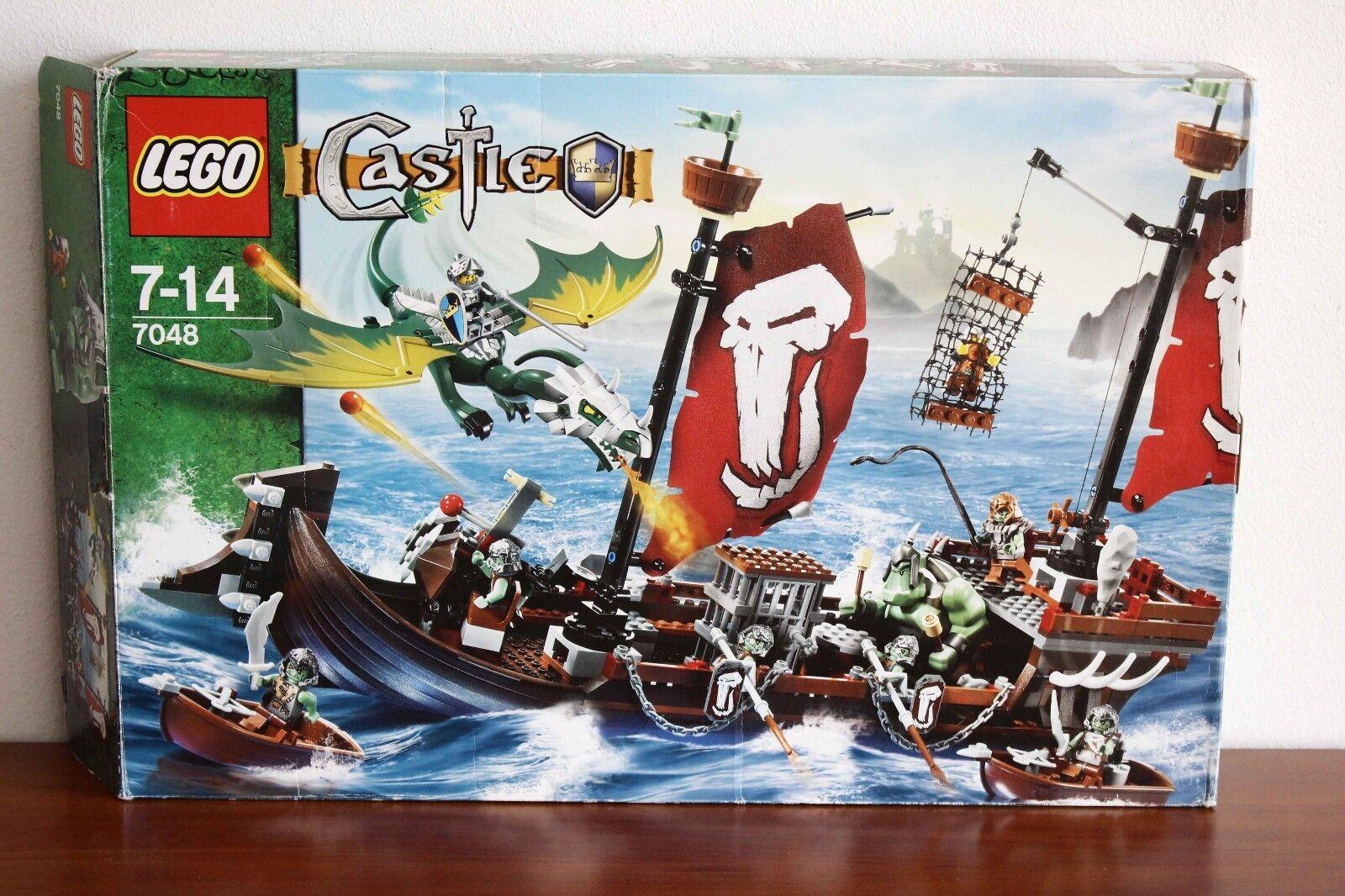 Lego Castle Fantasy Era Set 7048-1 Troll Warship 100% cmpl + instr +box