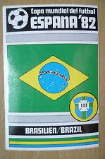 1982 COPA MUNDIAL DEL FUTBOL STICKER- BRASILIEN/ BRAZIL- ESPANA 82 (12x8 cm)