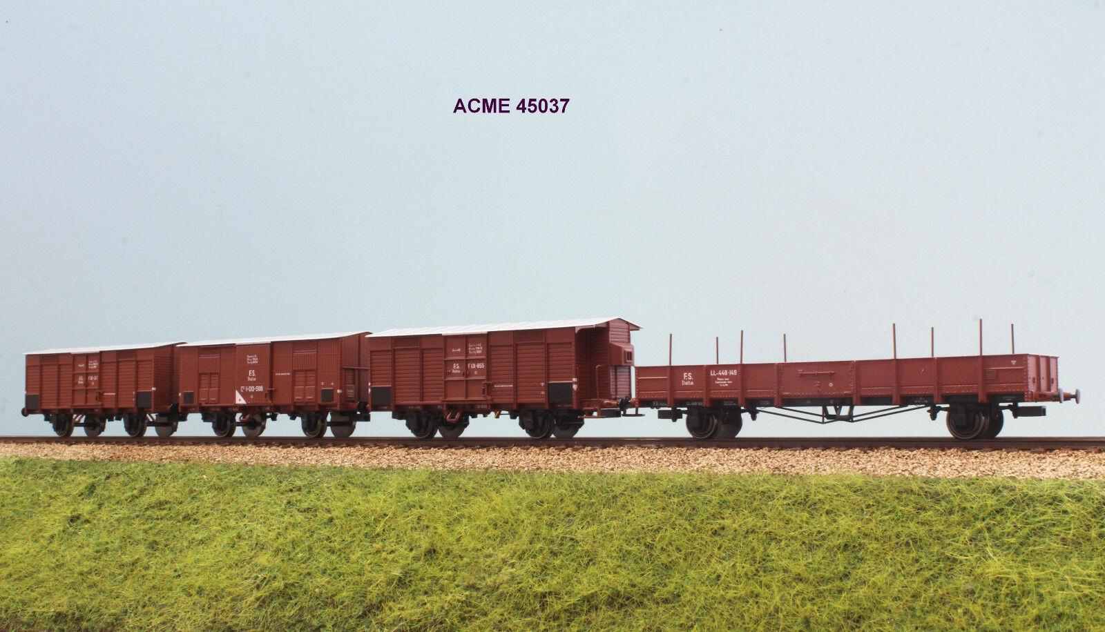 ACME 45037 FS Set wagons Type F and Wagon Open LL EP. II