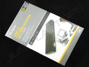 Targus USB 2.0 Dockingstation Port Replikator DVI Bildschirm Mit Eu Adapter