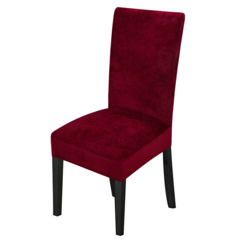 1//4//6Pcs Velvet Spandex Fabric Stretch Dining Room Chair Seat Covers Slipcovers
