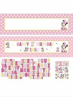 Minnie's 1st Birthday Minnie Mouse Party Supplies Giant Sign Banner 20 Wide