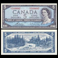 Canada 5 Dollars, 1954(1972), P-77c, UNC