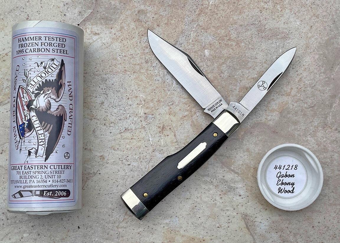 Great Eastern Cutlery 441218 Buffalo Jack Gunstock in Ebony, PPP