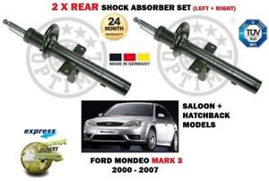 FOR FORD MONDEO MARK 3 2000-2007 NEW 2 X REAR SHOCK ABSORBER SHOCKER SET