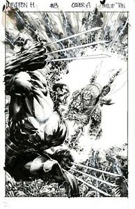 Weapon H issue 8 cover by Philip Tan ***Charity Auction*** Korg from Thor