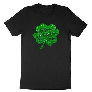 Green-Clover-Irish-Lucky-Charm-St-Patricks-Day-Ireland-Shamrock-Unisex-T-shirt