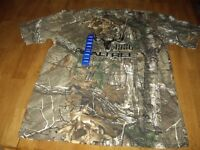 Realtree Buckhorn River T-shirt 1986 Camouflage Hunting Size L