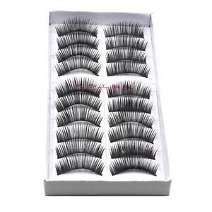 10-Pair-ly-Soft-False-Eyelash-Eyelashes-Eye-Lashes-Makeup-Long-Sale