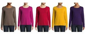 St-John-039-s-Bay-Women-039-s-Round-Neck-Long-Sleeve-T-Shirt-Choose-Color-amp-Size