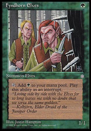 1x Fyndhorn Elves Ice Age MtG Magic Green Common 1 x1 Card Cards