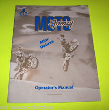 MOTO FRENZY MINI DELUXE By ATARI 1992 ORIGINAL VIDEO ARCADE GAME SERVICE MANUAL