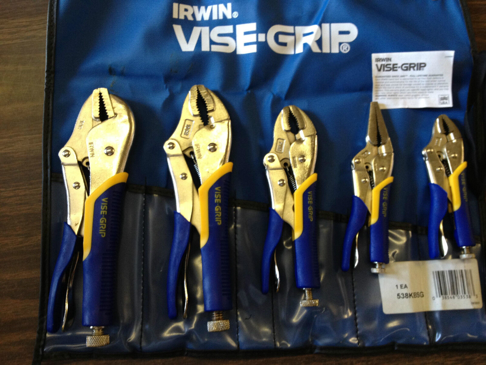 IRWIN 538KBSGThe Original 5pcs  10R, 10CR, 7WR, 5WR and 6LN ,Made in USA S-Grip