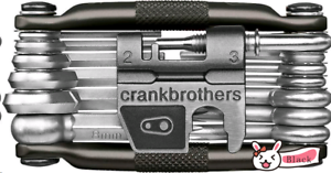 Crank Brothers M19 Multi Tool 19-Function Tool,with Case Black