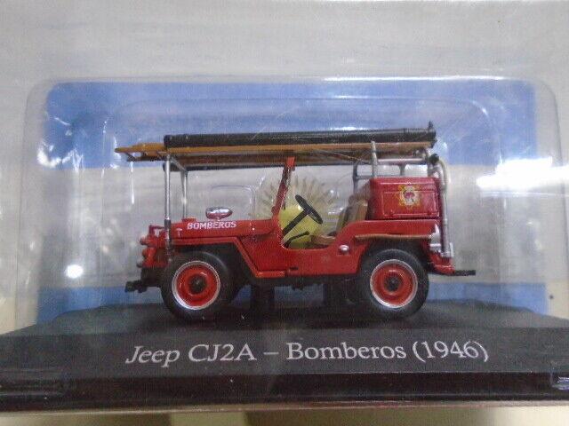 IXO 1 43  Jeep Willys CJ2A Fire Engine Service 1946 Bomberos