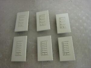 Lot of 6 Lutron Homeworks Keypad Lot ST-6BRL & ST-3BRL READ DESCRIPTION