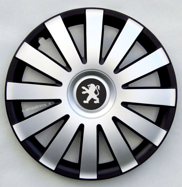 """Set of  4x15"""" wheel trims to fit Peugeot 208"""