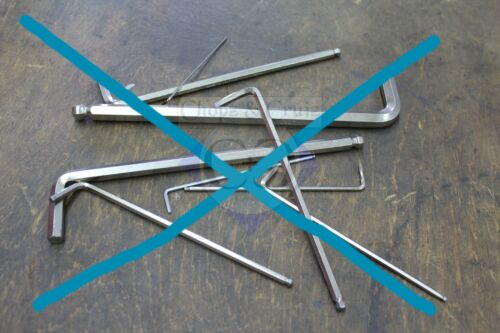 Werkzeughalter // Halterung Inbusschlüssel blank Werkbank Alu