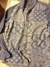 Topman Blue Denim Shirt Size M
