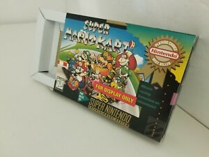 Super Mario Kart Official SNES For Display Only BOX W/Cardboard Insert NOGAME P9