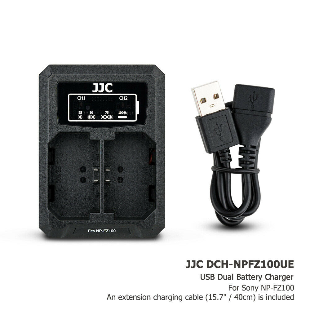 USB Battery Charger fits Sony NP-FZ100 for Sony A7III A7RIV A7RIII A9II A9 A6600