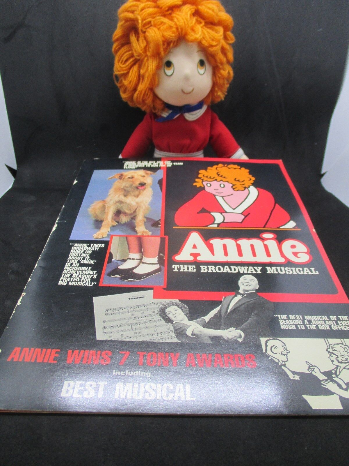 1982 12  Annie Rag Doll, PlayBill , Broadway Musical , Anniversary Edition