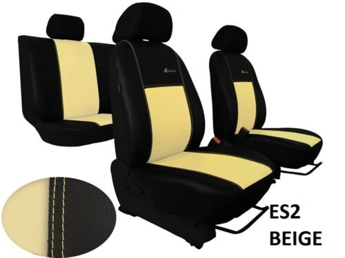 """ECO LEATHER /""""EXCLUSIVE/"""" TAILORED SEAT COVERS FOR MITSUBISHI L200 MK5 2015 ON"""