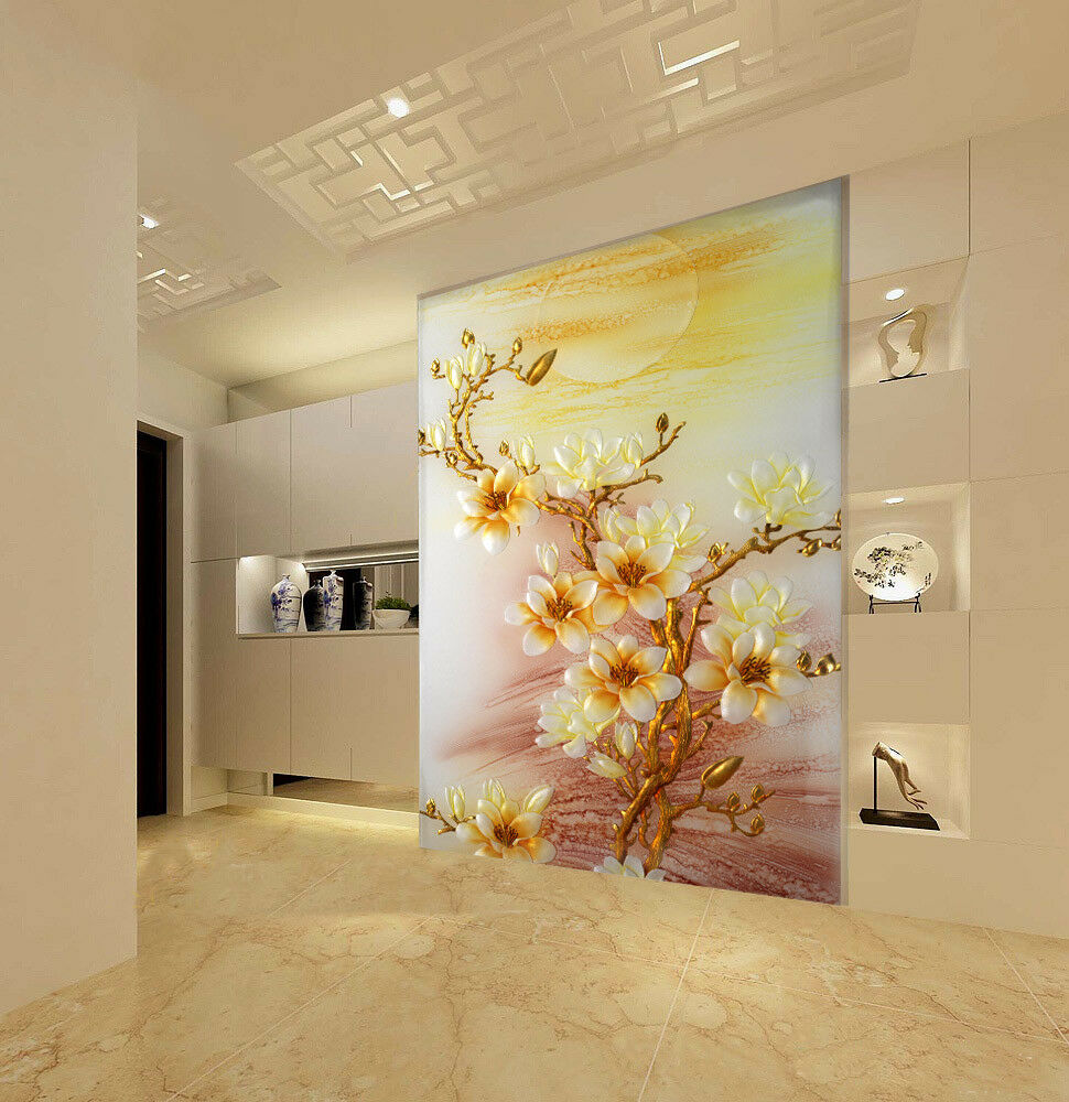 3D Moon Flowers Tree 9 Wall Paper Murals Wall Print Wall Wallpaper Mural AU Kyra