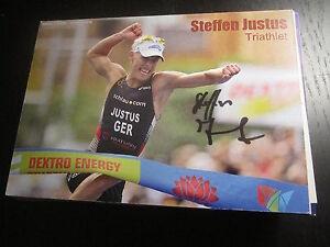 48762 Steffen Justus Triathlon original signierte Autogrammkarte