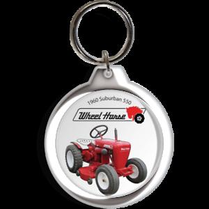 Wheel Horse Garden Tractor Suburban 550 400 ignition start Keychain Key Ring FOB