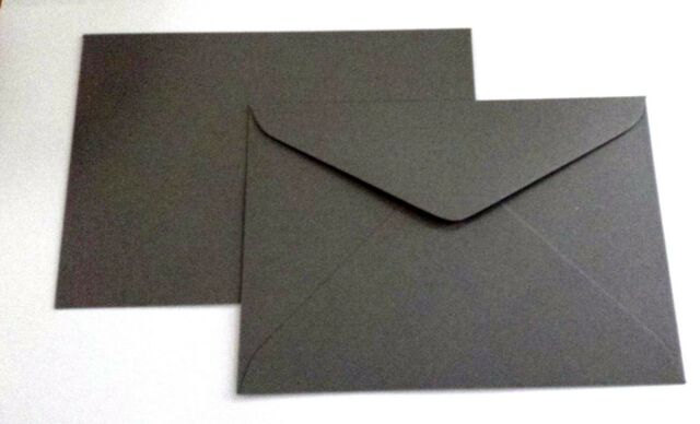 60 x  C5 (62mmx229mm)  ENVELOPES CHARCOAL 100% Recycled Quality 120gsm